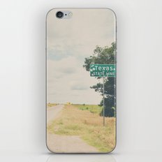 Texas state line ... iPhone & iPod Skin