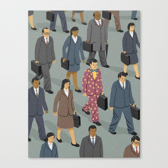 Happy commuter Canvas Print
