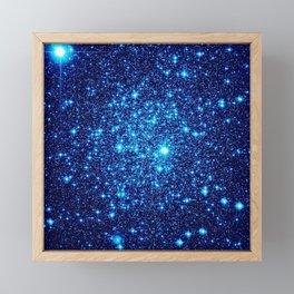 Vivid Blue gALaxY Stars Framed Mini Art Print
