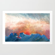 Sunset Impressionist  Art Print