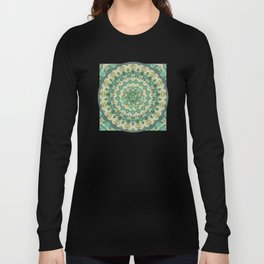Luna Moth Meditation Mandala Long Sleeve T-shirt