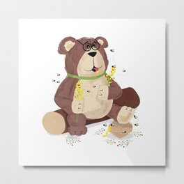 Greedy bear Metal Print