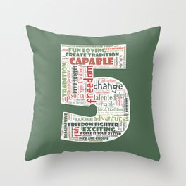 Life Path 5 (color background) Throw Pillow