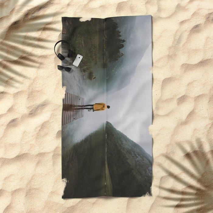 Mountain Lake Vibes - Landscape Photography Beach Towel