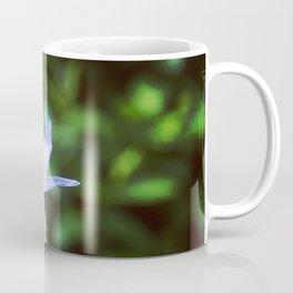 Macro Purple blue flower. Coffee Mug