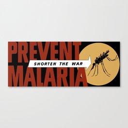 Shorten The War -- Prevent Malaria Canvas Print