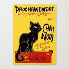 Chat Noir Monsieur Steve Canvas Print