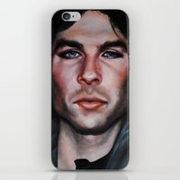 the vampire diaries iPhone & iPod Skins featuring Ian Somerhalder (Damon from Vampire Diaries) by Britanee LeeAnn Sickles