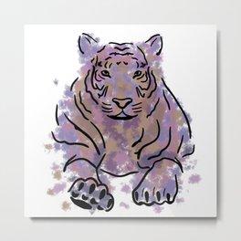 Colorful Tiger  Metal Print