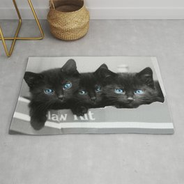 Blue Eyed Kittens Rug
