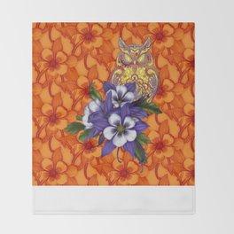 Columbine Paisley Owl Throw Blanket