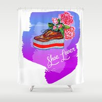 shoe Shower Curtains featuring Shoe Lover! by Diana Todorova