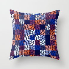 Square Wave Throw Pillow