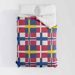 Flags of scandinavia2: finland, denmark,swede,norway Comforters