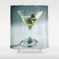 martini Shower Curtains featuring Martini by Kimpressions