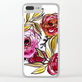 November Floral Clear iPhone Case