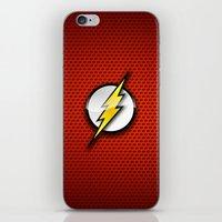 flash iPhone & iPod Skins featuring FLASH by neutrone