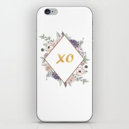 Lettering and Watercolor Flowers #3 iPhone Skin
