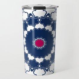 Red blue ornament 2 Travel Mug