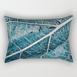 Frozen Winter Leaf Rectangular Pillow