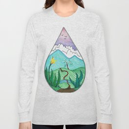 Landscape in a Raindrop Long Sleeve T-shirt
