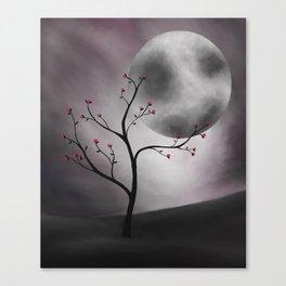 Midnight Peach Canvas Print