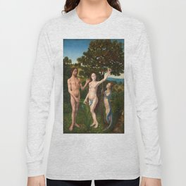 The Fall of Man and The Lamentation by Hugo van der Goes Long Sleeve T-shirt