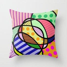 Retro Curves - Big Bold Geometric Patterns Throw Pillow