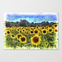 Sunflower Field Vincent Van Goth Canvas Print