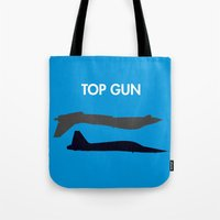 top gun Tote Bags featuring Top Gun  by NotThatMikeMyers