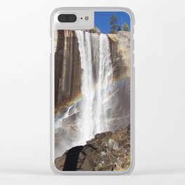 Rainbow Over Vernal falls Clear iPhone Case