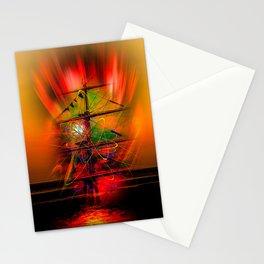 Sailing romance Stationery Cards