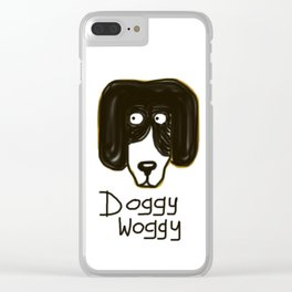 Doggy Woggy Clear iPhone Case