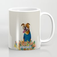 chelsea Mugs featuring Chelsea Girl by Jade Young Illustrations
