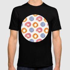 sweet things: doughnuts MEDIUM Mens Fitted Tee Black