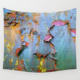 Peeling paint and rust textures 135 Wall Tapestry