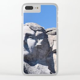 Mount Rushmore Clear iPhone Case