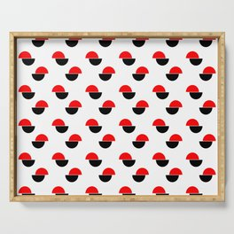 Wild polka dot 2- Colors of anarchy Serving Tray