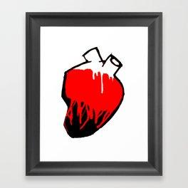 Washed by blood. Framed Art Print