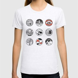 blurry icons T-shirt