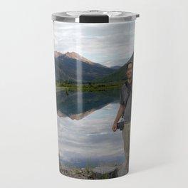 Photographer on Crystal Lake Travel Mug