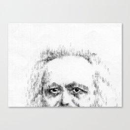 Typewritten Marx Canvas Print