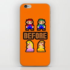 Super Mario Bros Before Hoes iPhone Skin