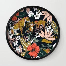 Animal print dark jungle Wall Clock