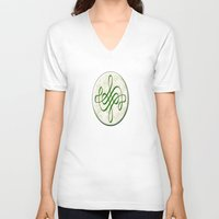 leah flores V-neck T-shirts featuring Leah (#TheAccessoriesSeries) by Wayne Edson Bryan