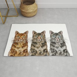 Triple Tabbies Cats Rug