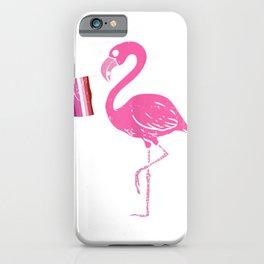Womens Flamingo Bird Lesbian Pride Flag Cute Butch LGBT Animal Gift T-Shirt iPhone Case