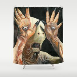 Pale Man Acrylic Painting Shower Curtain