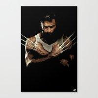 xmen Canvas Prints featuring  Xmen Hugh Jackman Wolverine 2 Pop Art Poster by NLopezArt
