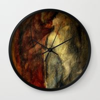 poetry Wall Clocks featuring poetry studies by Imagery by dianna